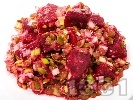 Рецепта Салата от червено цвекло и праз